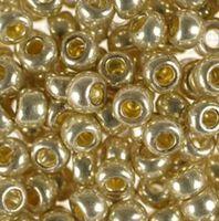 Бисер №18303, №10, Preciosa (Чехия), золотисто-серебристый, металлизированный, непрозрачный