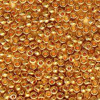 Бисер №18304, №10, Preciosa (Чехия), медно-золотой, металлизированный