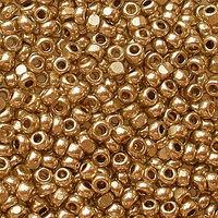 Бисер №18305, №10, Preciosa (Чехия), медный, металлизированный