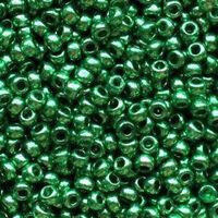 Бисер №18356, №10, Preciosa (Чехия), зеленый, металлизированный