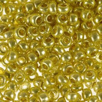 Бисер №18386, №10, Preciosa (Чехия), желто-золотой, металлизированный