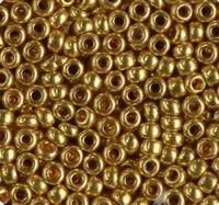 Бисер №18388, №10, Preciosa (Чехия), золотой, металлический