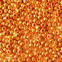 Бисер №18389, №10, Preciosa (Чехия), темное-золото, металлический