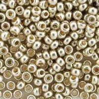 Бисер №18503, №10, Preciosa (Чехия), светлое серебро,металлизированный, непрозрачный