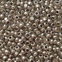 Бисер №18542, №10, Preciosa (Чехия), тёмное серебро,металлизированный, непрозрачный