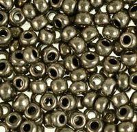 Бисер №18549, №10, Preciosa (Чехия), серый, металлизированный, непрозрачный
