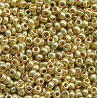 Бисер №18581, №10, Preciosa (Чехия), золотой, металлик, непрозрачный