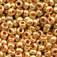 Бисер №18583, №10, Preciosa (Чехия), медное золото, металлик, непрозрачный