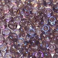 Бисер №21010, №10, Preciosa (Чехия), светло-сиреневый радужный, прозрачный