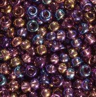 Бисер №21060, №10, Preciosa (Чехия), фиолетовый радужный, полупрозрачный