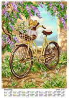 Велосипед, DANA-2143 схема для вышивки бисером на габардине
