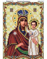 Пресвятая Богородица, И-244 схема с рисунком для полной вышивки бисером на габардине