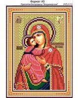 Пресвятая Богородица Владимирская,  И-254 схема с рисунком для вышивания бисером на габардине