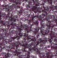 Бисер №26060, №10, Preciosa (Чехия), тёмный фиолет- аметист, полупрозрачный