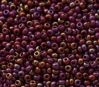 Бисер № 94300,№10, Preciosa(Чехия), коричневый радужный, непрозрачный