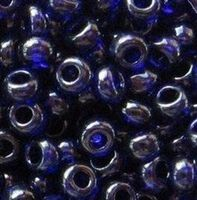 Бисер №30110, №10, Preciosa (Чехия), синий, полупрозрачный