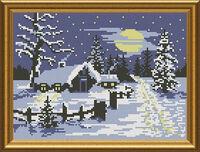 Зима ночь, СКМ-31 схема для вышивки бисером №10 на атласе