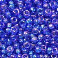 Бисер №31050, №10, Preciosa (Чехия), сине-голубой радужный, полупрозрачный