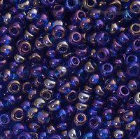 Бисер №31100, №10, Preciosa (Чехия), тёмно-синий радужный, непрозрачный