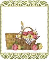 Спасівський рушник, ВШН-31 схема-рисунок рушника на атласе для вышивки бисером №10