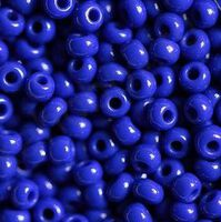 Бисер №33050, №10, Preciosa (Чехия), синий натуральный, непрозрачный
