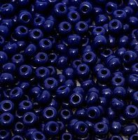Бисер №33080, №10, Preciosa (Чехия), чёрно-синий, непрозрачный