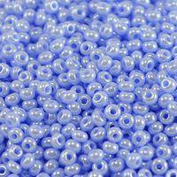 Бисер № 34000,№10,Preciosa(Чехия), сиренево- голубой радужный, непрозрачный
