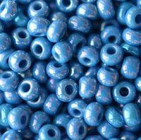 Бисер №34220,№10, Preciosa (Чехия),джинсовый радужный, непрозрачный