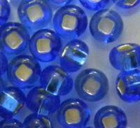 Бисер №37050, №10, Preciosa (Чехия), синий блестящий, прозрачный