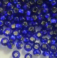 Бисер №37100, №10, Preciosa (Чехия), тёмно-сине-фиолетовый блестящий, прозрачный