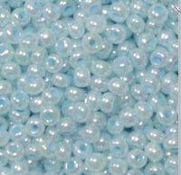 Бисер №37132, №10, Preciosa (Чехия), светло-голубой жемчужный, непрозрачный