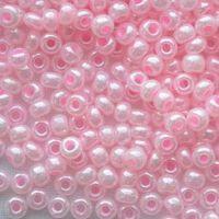 Бисер №37173, №10, Preciosa (Чехия), розовый светлый жемчужный, непрозрачный