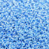 Бисер №37336, №10, Preciosa (Чехия), голубой жемчужный, непрозрачный