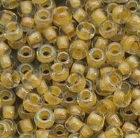 Бисер №38183, №10, Preciosa (Чехия), светло-жёлтый прокрашенный, прозрачный