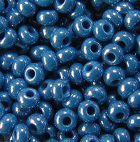 Бисер №38220, №10, Preciosa (Чехия), синий насыщенный, непрозрачный