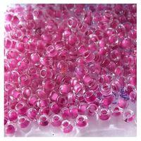Бисер №38325, №10, Preciosa (Чехия), розово-фиолетовый с внутренней окраской, прозрачный