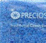 Бисер №38336 matt, №10, Preciosa (Чехия), светло-синий матовый, полупрозрачный