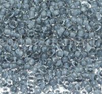 Бисер №38342, №10, Preciosa (Чехия), светло-серый прокрашенный, прозрачный
