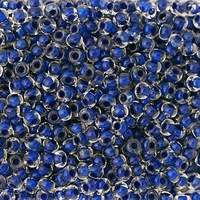 Бисер №38436, №10, Preciosa (Чехия), синий прокрашенный,прозрачный