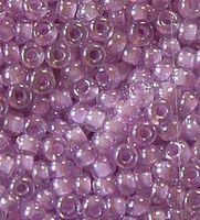 Бисер №38626, №10, Preciosa (Чехия), светло-сиреневый, прозрачный