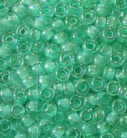 Бисер №38653, №10, Preciosa (Чехия), светло-бирюзовый прокрашенный, прозрачный