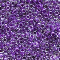 Бисер №38828, №10, Preciosa (Чехия), тёмно-фиолетовый прокрашенный, прозрачный