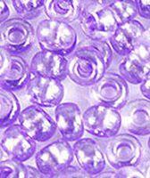 Бисер №38928, №10, Preciosa (Чехия), фиолетовый прокрашенный, прозрачный