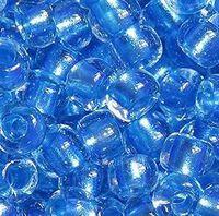 Бисер №38936, №10, Preciosa (Чехия), светло-синий прокрашенный, прозрачный