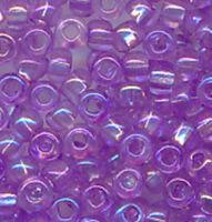 Бисер №41123, №10, Preciosa (Чехия), светло-сиреневый блестящий радужный, прозрачный