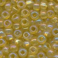 Бисер №41151, №10, Preciosa (Чехия),оливковый светлый радужный блестящий, прозрачный