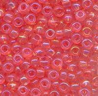 Бисер №41191, №10, Preciosa (Чехия), розовый блестящий радужный, прозрачный