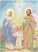 Святое Семейство схема-рисунок для вышивки бисером
