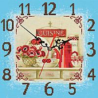 """Часы """"Маки"""", АР-1519 схема-рисунок для вышивки бисером №10 на ткани"""