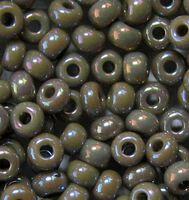 Бисер №44020, №10, Preciosa (Чехия), серо-коричневый радужный, непрозрачный